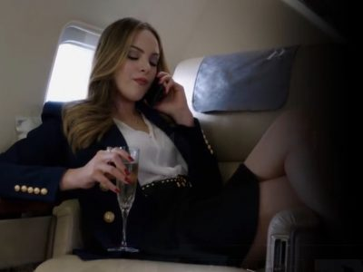 Lady on Plane