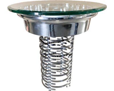 Boeing Wheel Table With Glass Front
