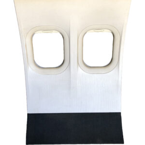 NorthwestAirlinesDC 9DoubleWindowSidewall WindowShadesOpen